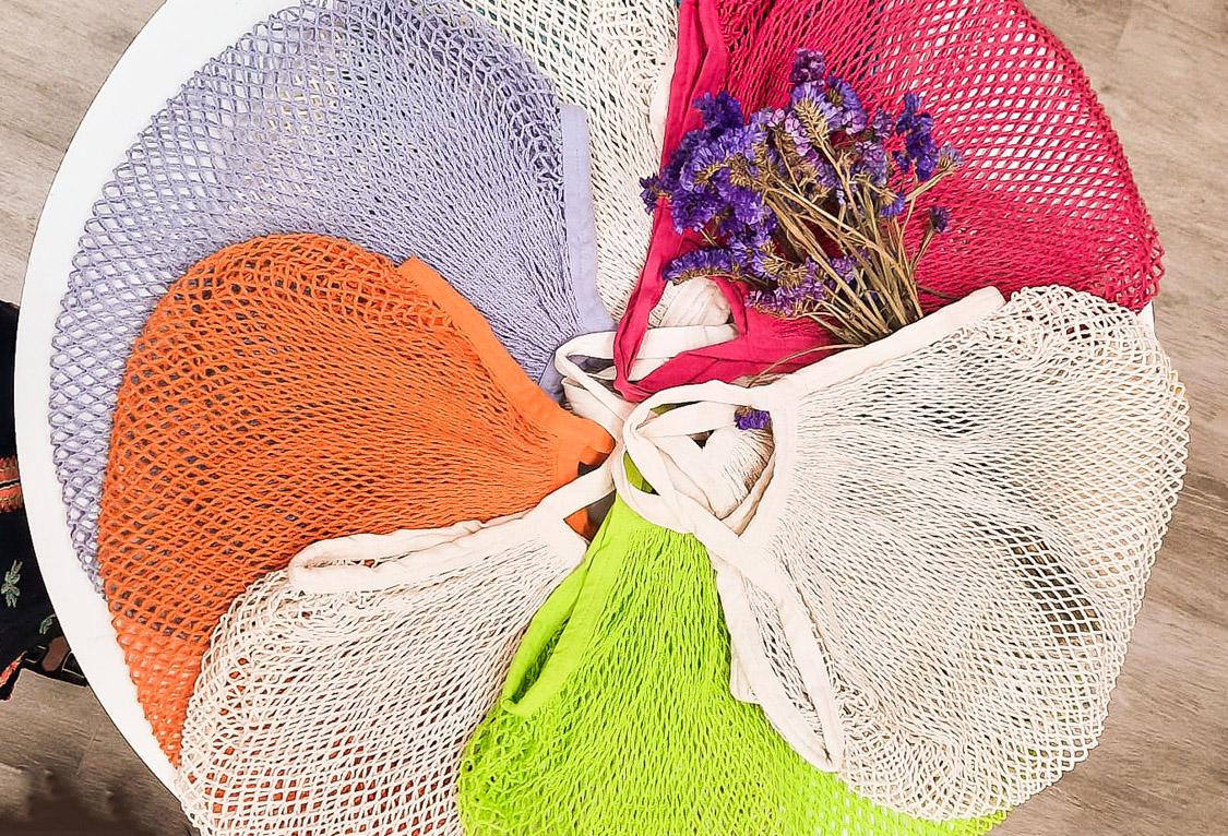Bolsa Malla de Algodón Orgánico Reutilizable